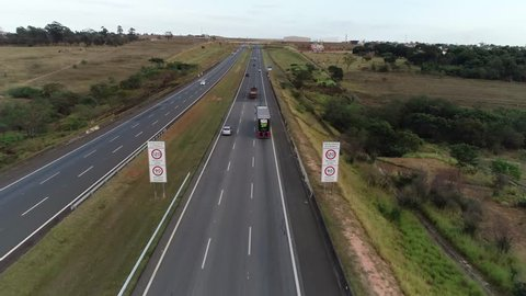 Road near Campinas, São Paulo - Brazil