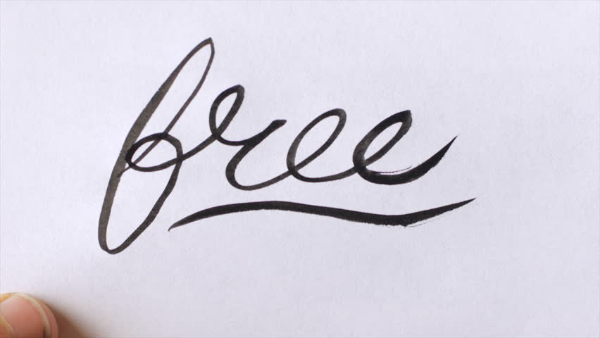 Hand Writing the Word Free Stock Footage Video (100% Royalty-free)  1014617972 | Shutterstock