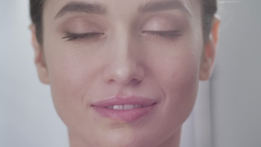 Face Care. Attractive Woman Touching Skin Under Eyes Closeup | Shutterstock HD Video #1014622172