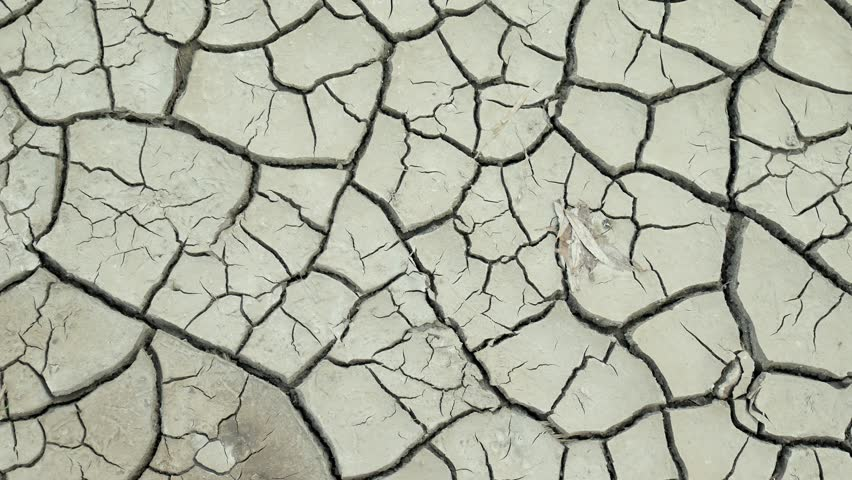 Dry lake with natural texture of cracked clay. Death Valley field