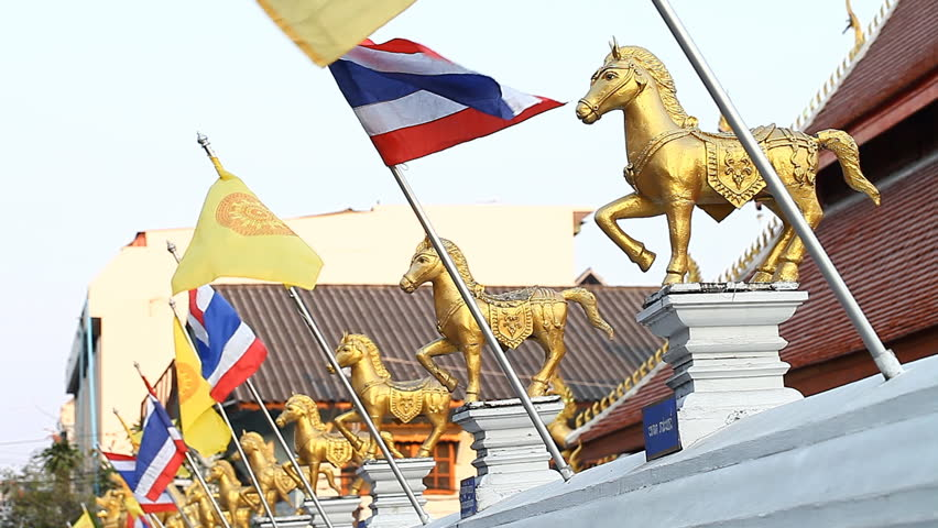 National flag of the Kingdom of Thailand.Red-white-blue tricolour symbolizes the people-religion-king.