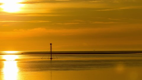 4k time lapse of sunset over the North Wales coast at Deganwy