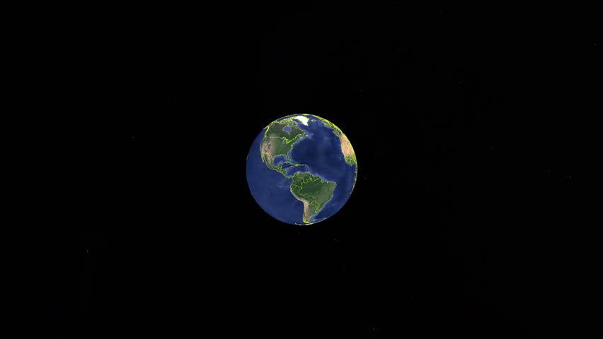 South Sudan with flag. 3d earth in space - zoom in South Sudan outer, created using ultra high res NASA