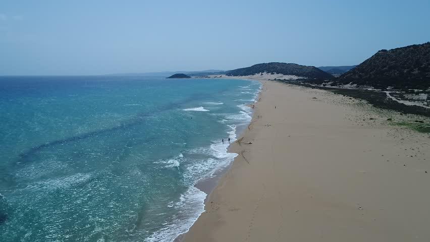 Karpasia , golden beach , north cyprus,Karpaz,Sea,North Cyprus,Altin Kum,plaj,people , swim,enjoy | Shutterstock HD Video #1015059892
