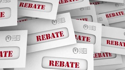 Rebate Get Money Back Tax Return Envelope 3d Animation