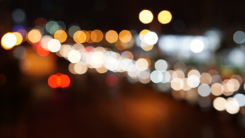 Time lapse abstract traffic light at night - Panning effect | Shutterstock HD Video #1015080082