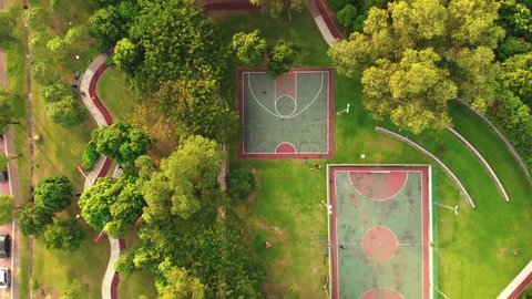 Aerial view of Futsal and basketball court