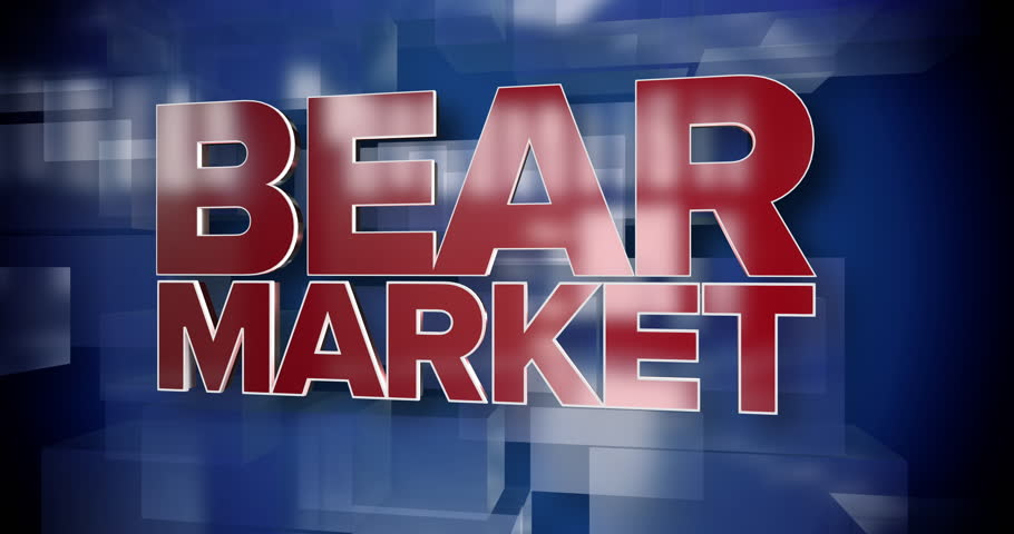 A red and blue dynamic 3D Bear Market title page background animation.  	 | Shutterstock HD Video #1015168582