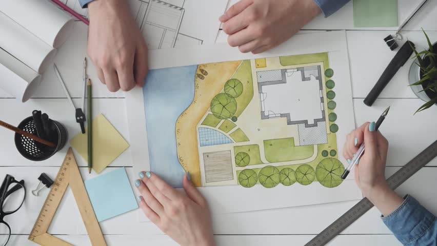 Landscape architect meeting with a client | Shutterstock HD Video #1015226992