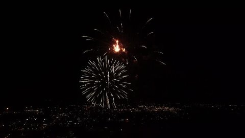 Fireworks on 4th of july in Tulsa Oklahoma