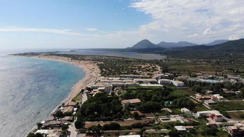 Here we have stunning aerial 4k Footage of St George South in Corfu