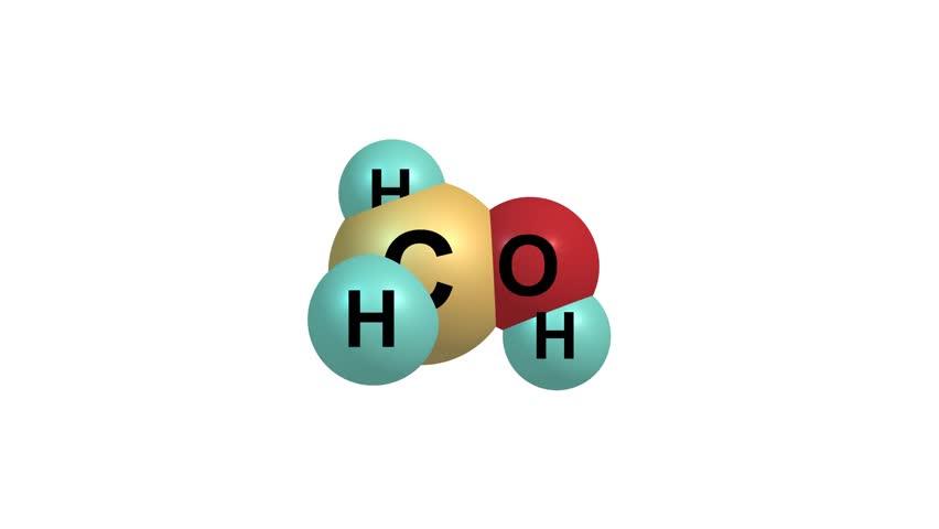 Rotating methanol molecule