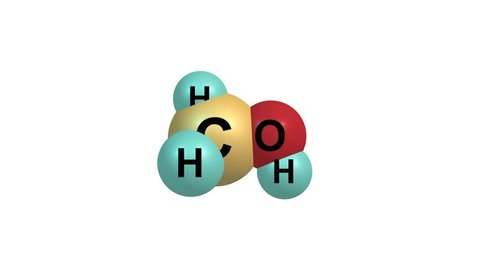 Rotating methanol molecule