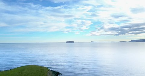 Desert island in distance in Hunaþing Vestra, Northern Iceland