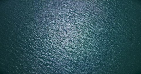 Aerial: Never endless sea surface view,