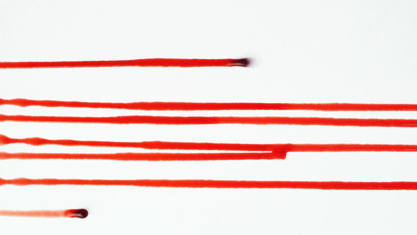Blood dripping down on white background  | Shutterstock HD Video #1015465582