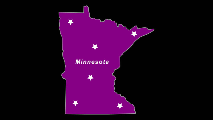 Purple State Map.Minnesota As Purple State Election Stock Footage Video 100