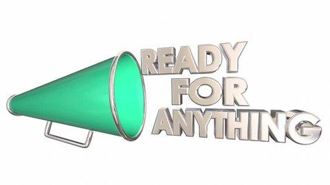 Ready for Anything Prepared Bullhorn Megaphone 3d Animation
