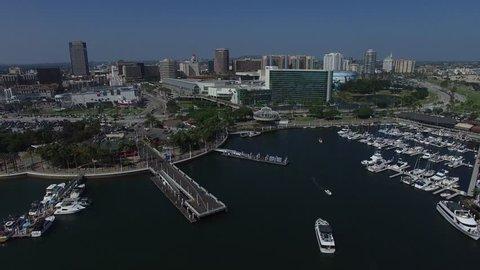 Long Beach California Harbour Aerial View.mov