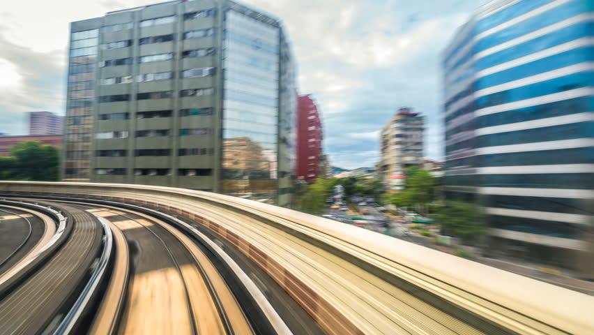 8K Hyperlapse of the Taipei metro in Taiwan.