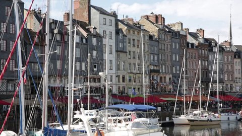 Medieval town by the sea in France - Honfleur