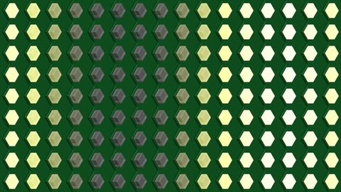 Abstract isometric background cubes lights bulbs vertical wave flashing