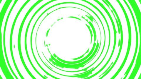 Messy painted green swirl spinning in a seamless repeating spiraling loop rotation. High definition CGI background or backdrop motion graphics video clip