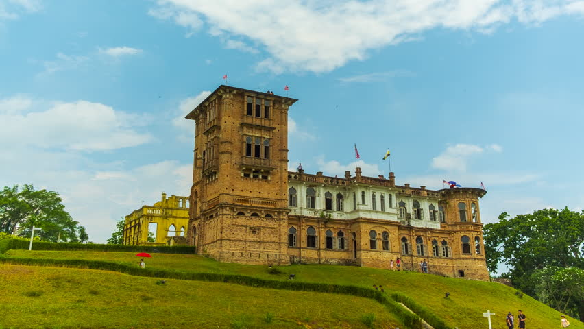 Timelapse of Abandon Kellie Castle at Ipoh,Malaysia.1080HD . Prores.