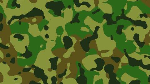 Animated woodland camouflage pattern.