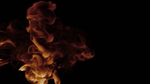 3d render abstract simulation of semi smoke semi ink substance. Detailed turbulence deformations,  twirls and flowing animation.