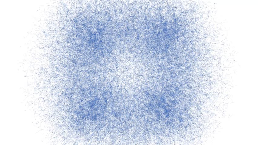 Blue Explosions on a White Background. 4K.  #1016236102