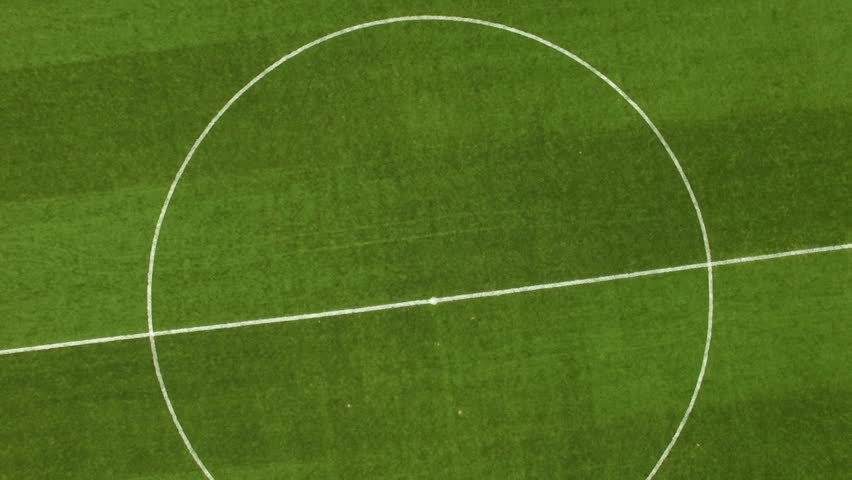 Aerial view to soccer field on stadium #1016294692