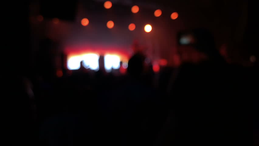 Concert Crowd Silhouettes, Slow Motion | Shutterstock HD Video #1016302282