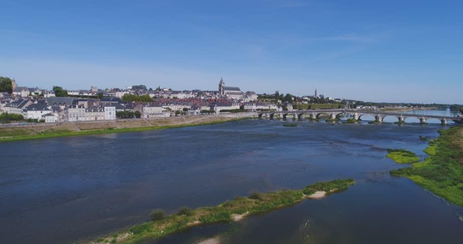 Blois, Loire, France, by drone
