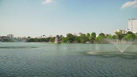 Vietnam - Hanoi - Hoan Kiem Lake, Turtle Tower