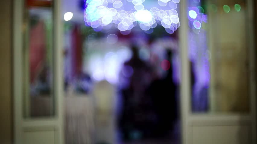 Blurred background of a party in a restaurant. a gala dinner and fun.