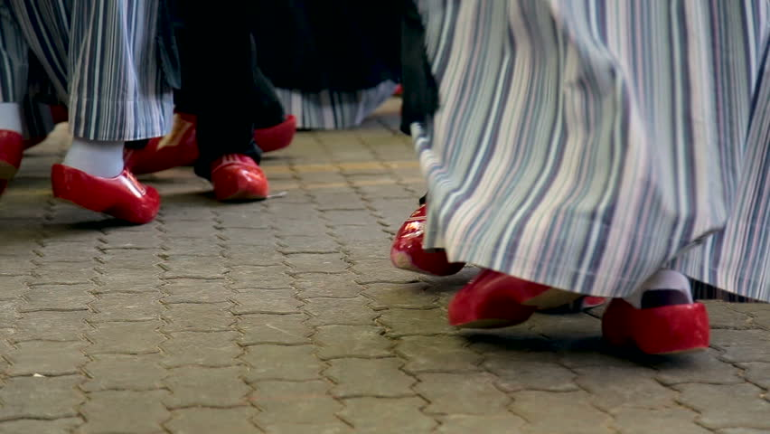 traditional shoes wooden dutch dance