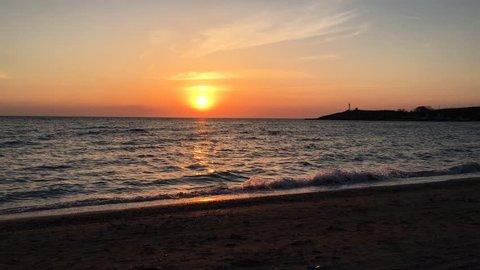 Timelapse of Sunset at cape Kazantip in Crimea.