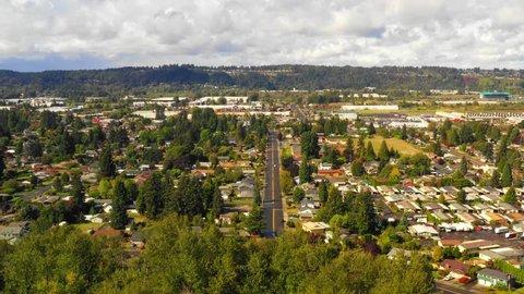 Aerial tour Auburn Washington