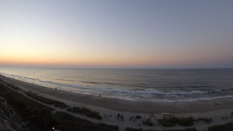 Beautiful timelapse of the sun rising over Myrtle Beach, SC in the USA.