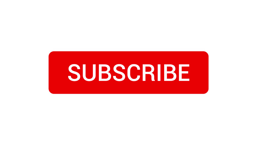 Mouse Clicking a Subscribe Button and Bell Notification with a White Background. | Shutterstock HD Video #1016791282