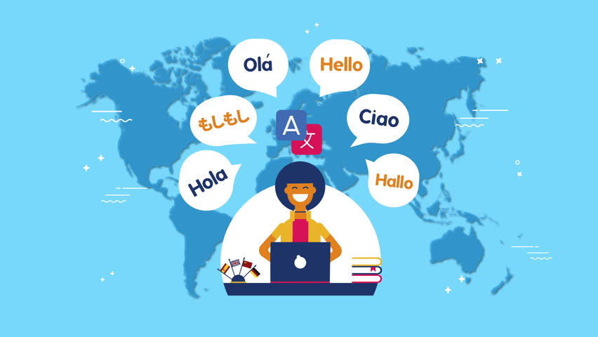 Multi Language Translator Concept 2d Stock Footage Video (100%  Royalty-free) 1016897422 | Shutterstock