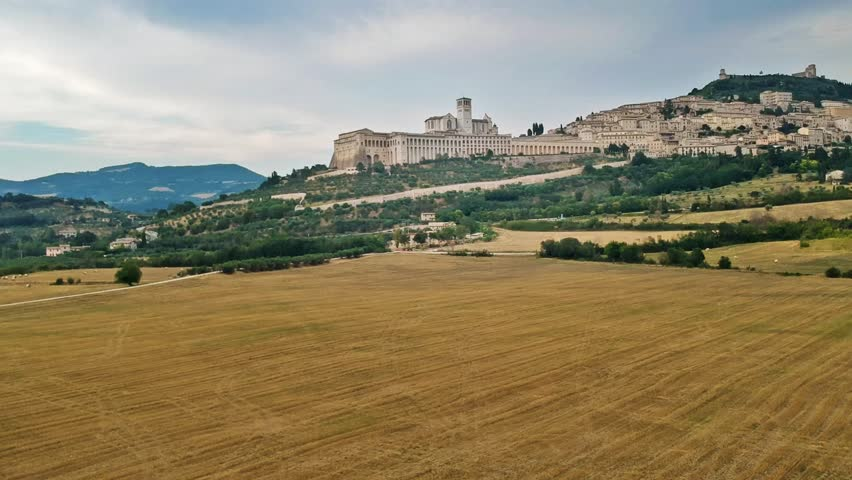 View to Assisi in Italy Umbria | Shutterstock HD Video #1016936602