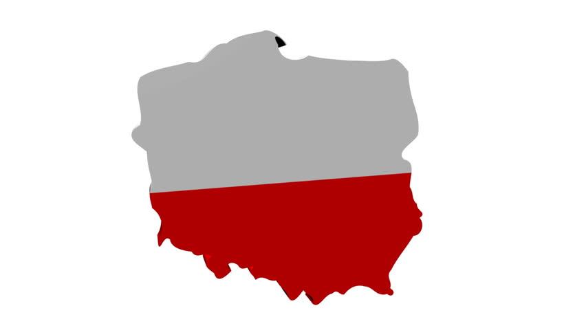 Poland Map Flag with Container Stock Footage Video (100% Royalty ...