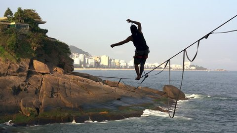 Lifestyle in  holiday s travel. Tour at the Secret dream beach Vidigal in Rio de janeiro. An place to relax and inspire creative style