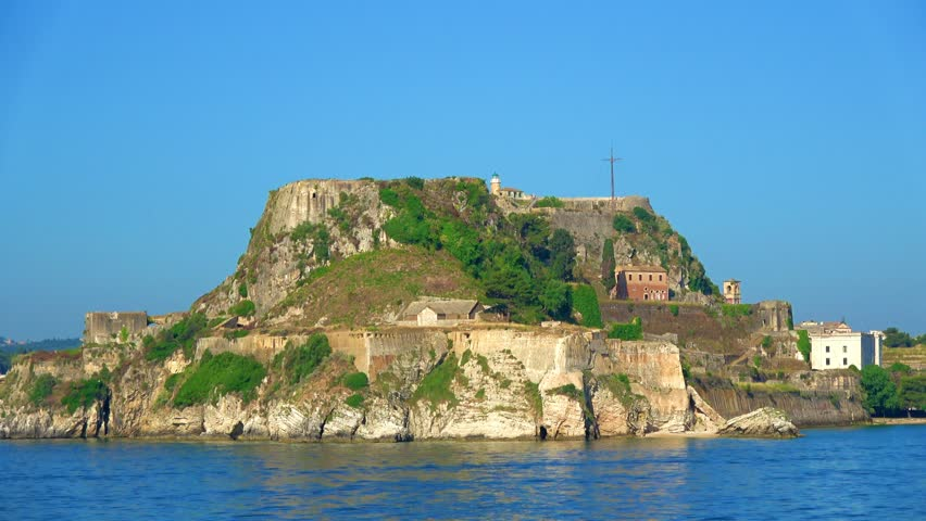 The old castle of Corfu island Greece
