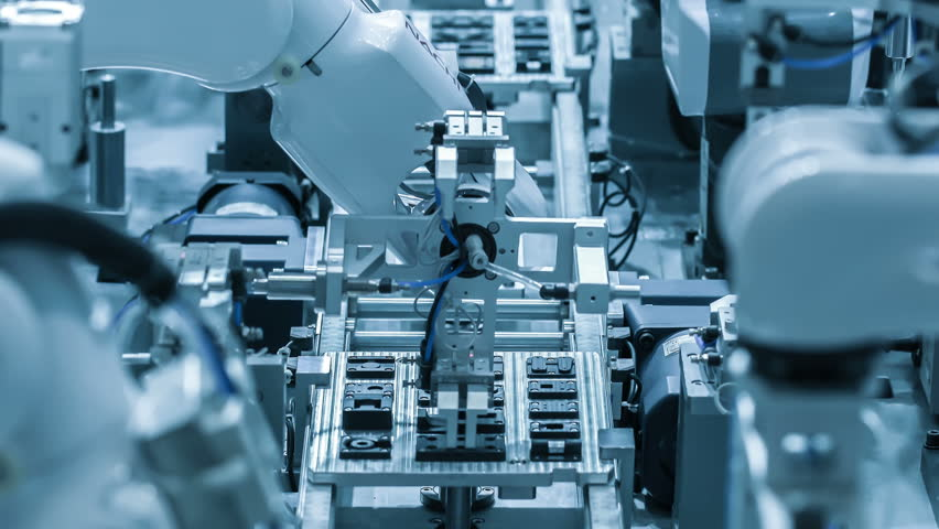 Automated assembly line.Technology and automation.Close-up | Shutterstock HD Video #1017120292