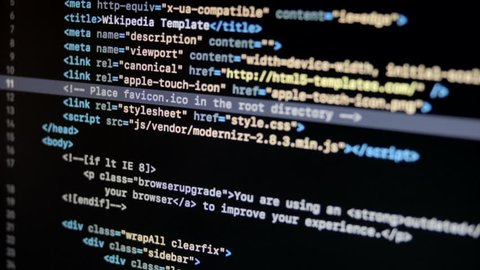 HTML Web Page Code Scrolling