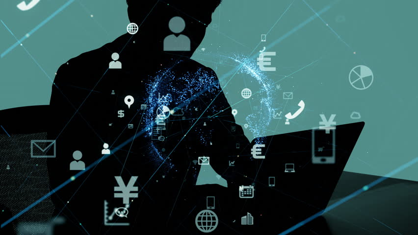 Business and technology concept. IoT (Internet of Things) . Mobile communication network.   Shutterstock HD Video #1017276262
