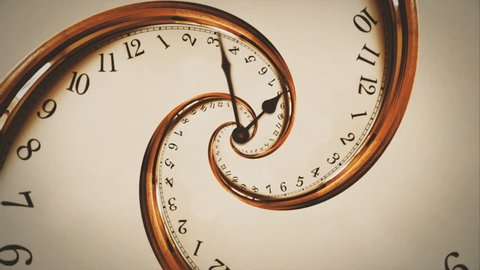Rotating spiral of clock from numbers abstract seamless animation